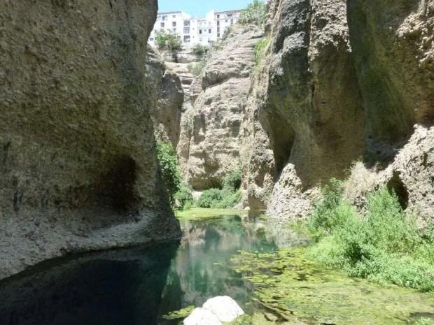 Alla base del canyon di Ronda