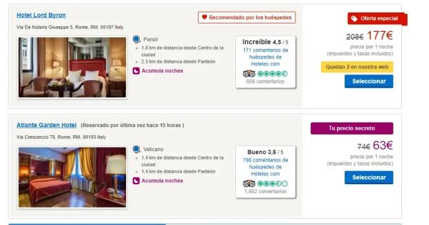 Hotels.com Rewards: le offerte segrete