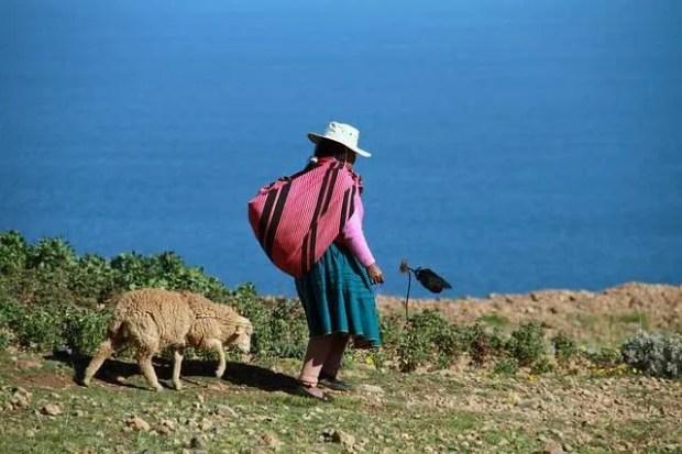 Gli abitanti del lago Titicaca
