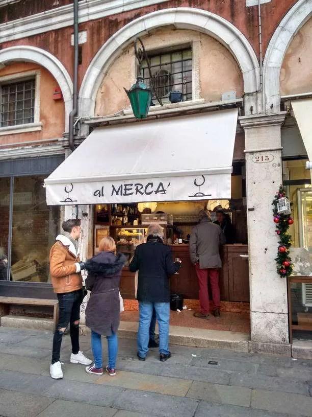 Mangiare a Venezia Al Mercà a Venezia
