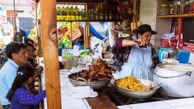 Food market peruviano