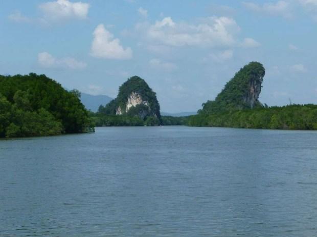 Vista dal molo di Krabi Town