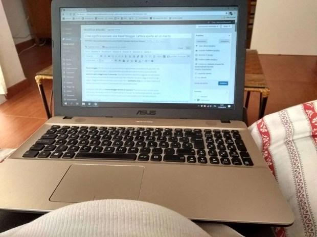 Travel blogger (e famiglia) al lavoro