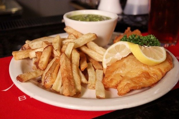 Un piatto di fish&chips