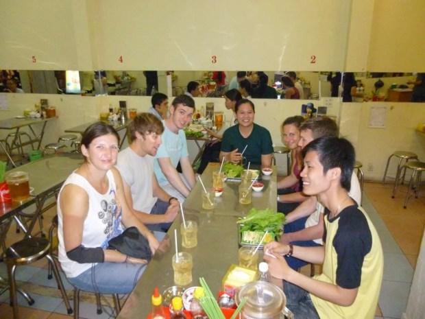 Un momento del tour gastronomico a Can Tho