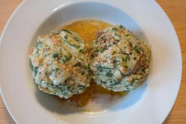 Knodel con spinaci