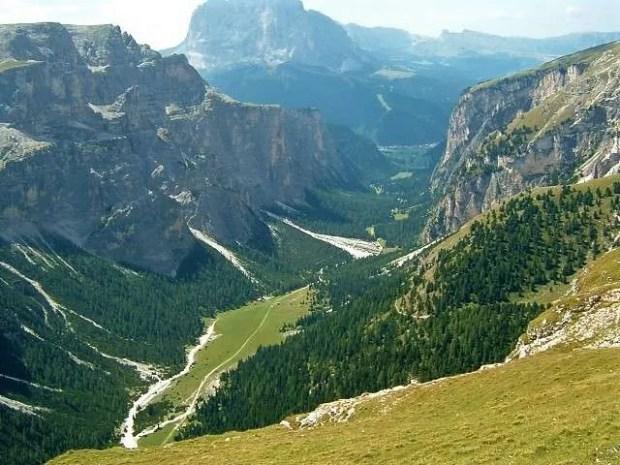 Vista dall'alto della Vallunga