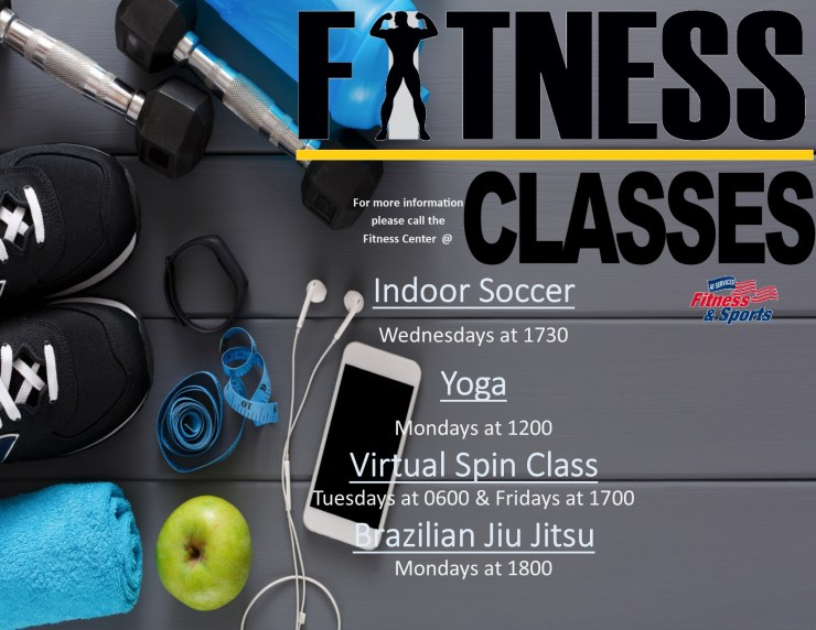 Fitness Classes Update August 2018