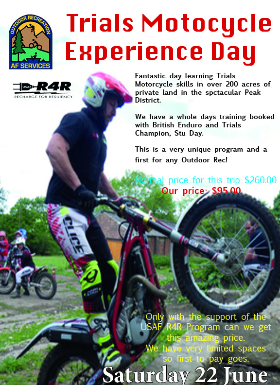 motorcyle trials experience day Jun 22nd