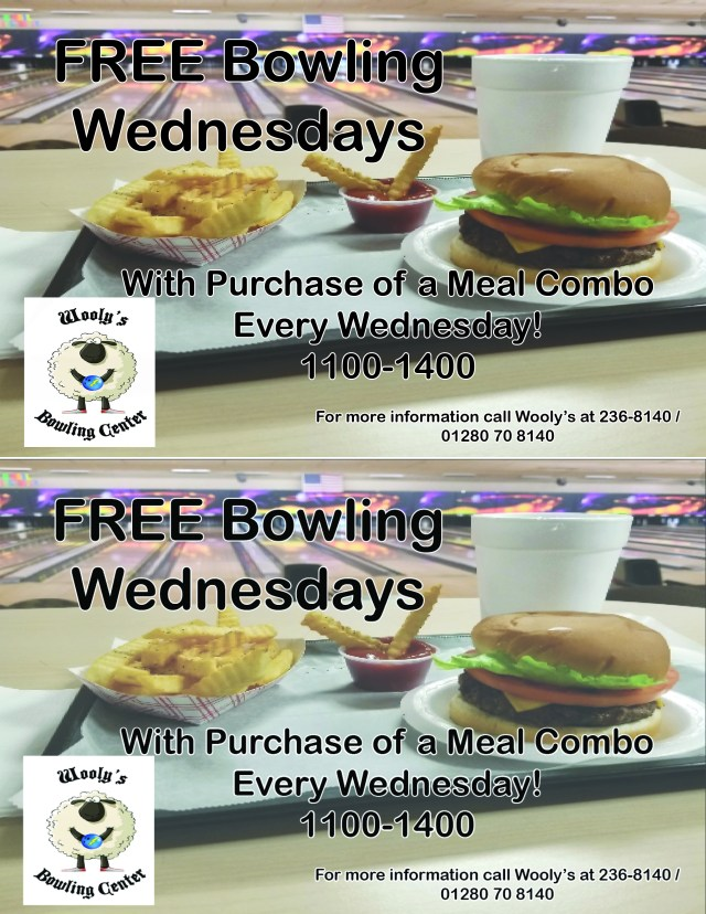 Wednesday Free Bowling