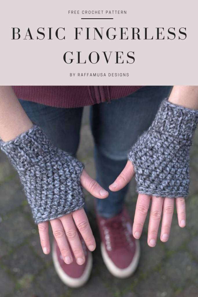 Save the Free pattern of the Crochet Basic Fingerless Gloves to your Pinterest board