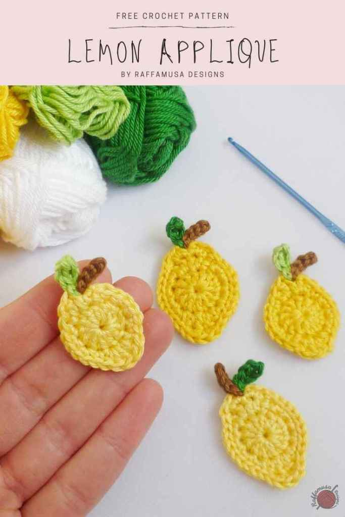 Do not forget to Pin the pattern of the Free Crochet Lemon Applique to your Pinterest board