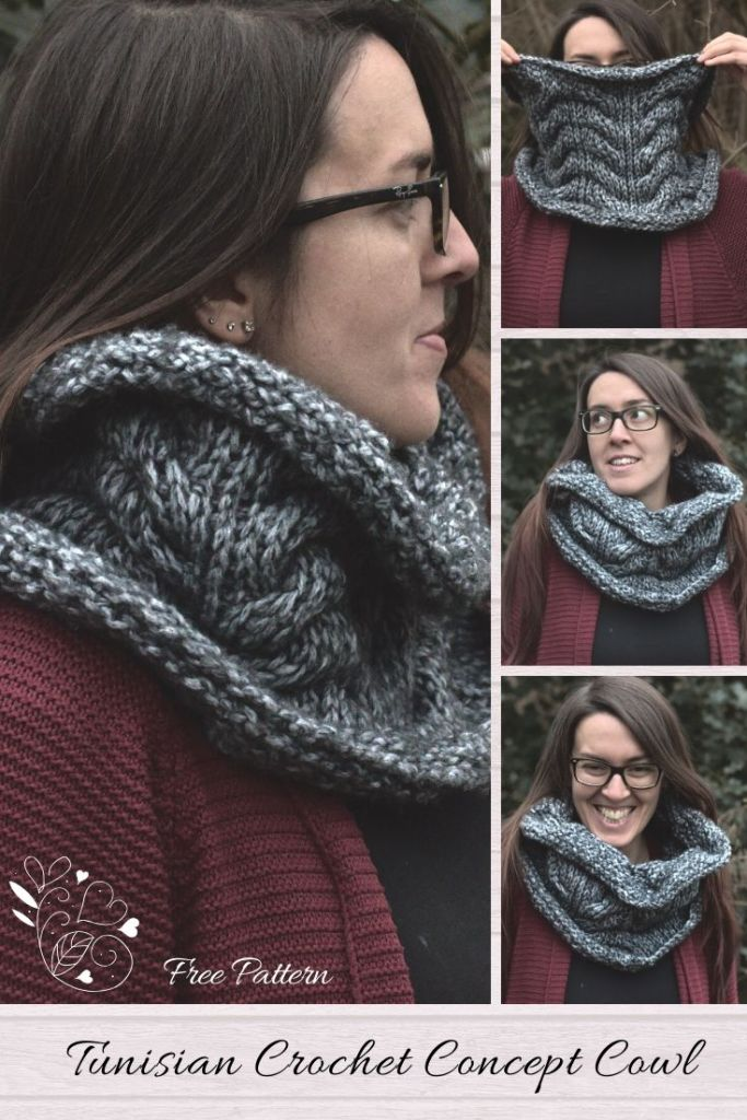 Pin the Free Pattern of the Tunisian Concept Cowl for Later