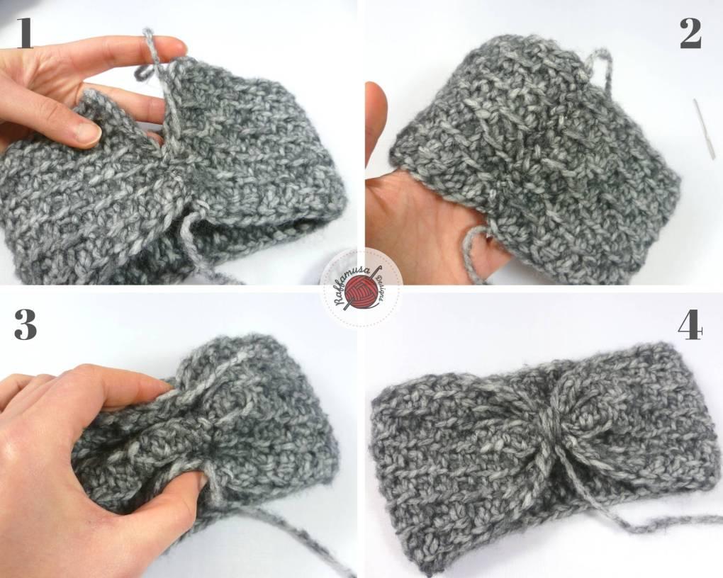 Finishing your Tunisian Crochet Concept Headband, making the knot