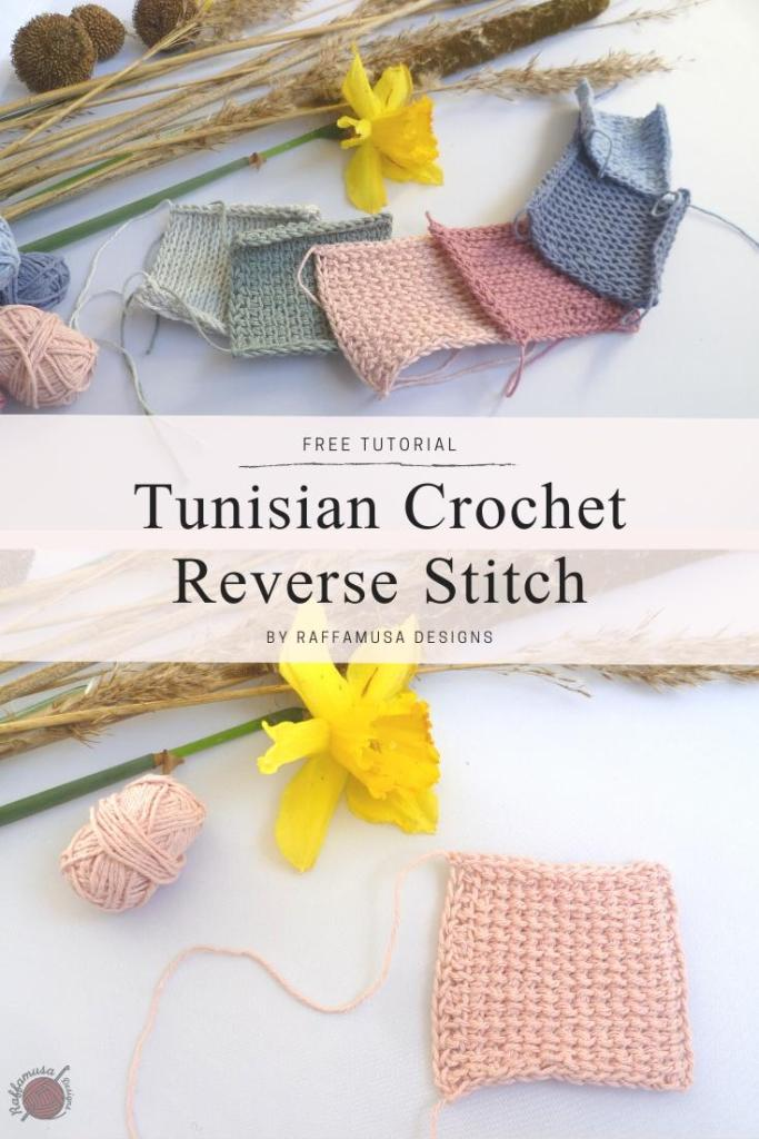Pin the free tutorial of the Tunisian crochet Reverse stitch to your Pinterest board