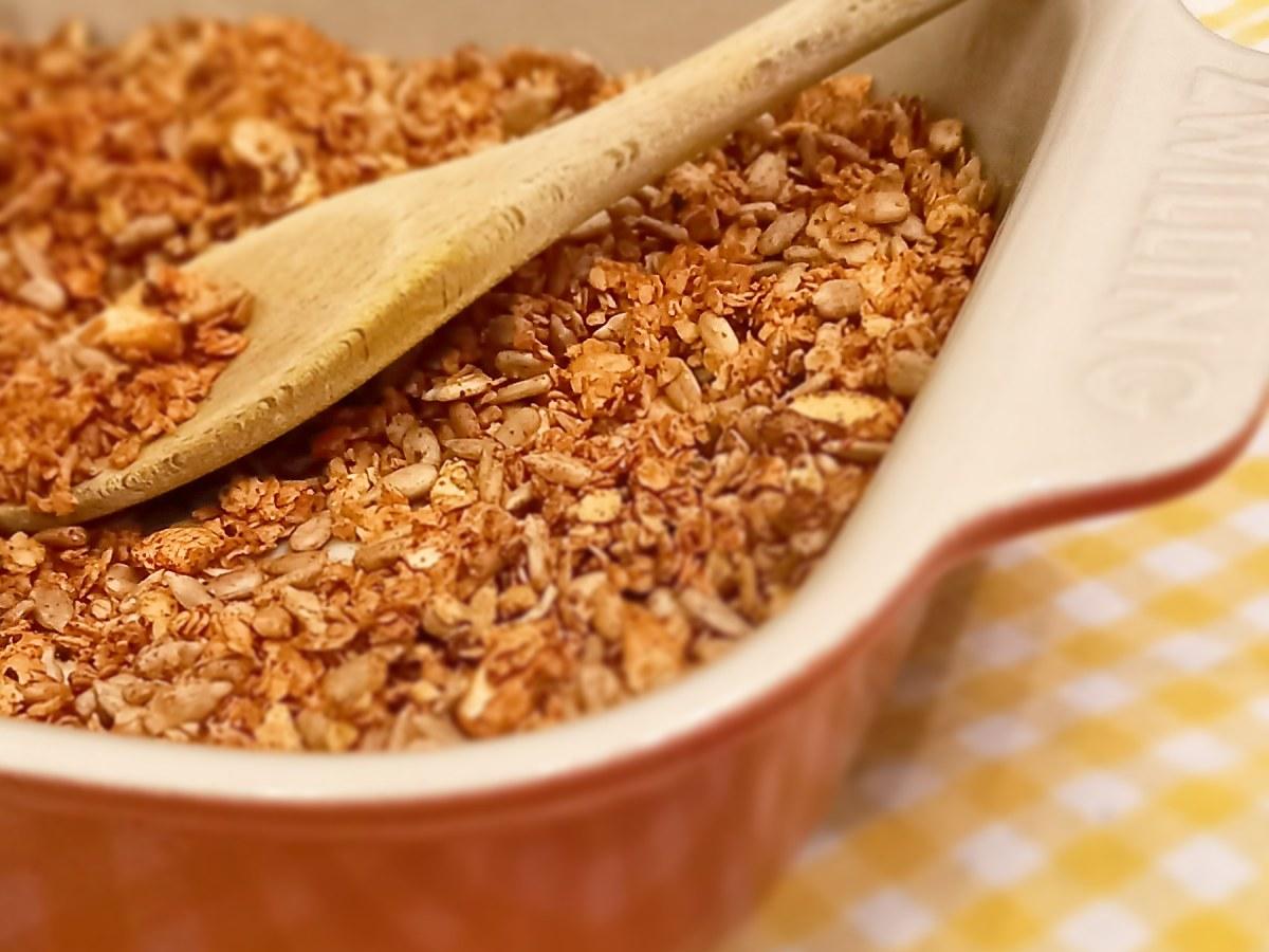 Granola pikant mit scharfen Gewürzen