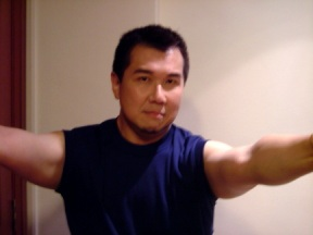 A photograph of Mr. Harold Tan working out in the gym; this was taken prior to his arrest
