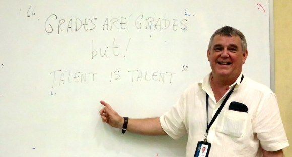 """Grades are grades, but Talent is talent."""