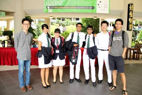 A Team of Raffles Debaters and our coaches