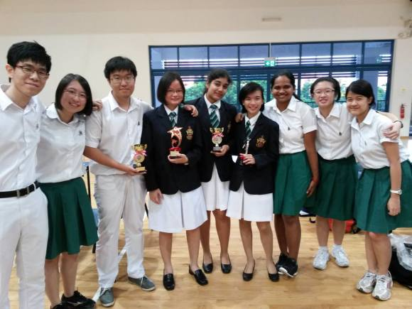 Members representing the Gavel and Raffles at speech competitions