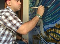 Rafi Perez Painting Mural