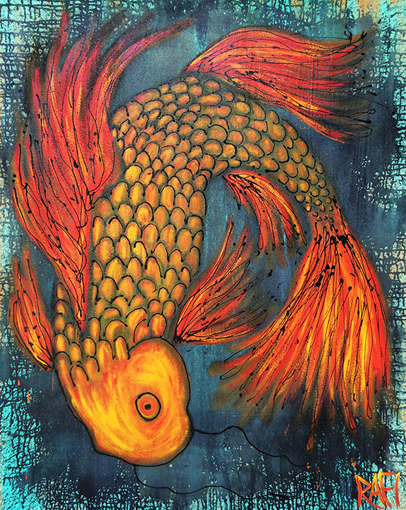 Joy Of Koi Series By Rafi Perez