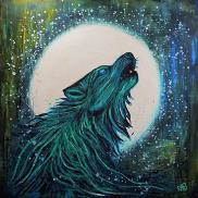 Wolf In The Moonlight By Rafi Perez