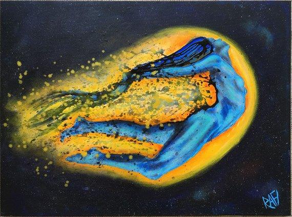 Phoenix Rising Original Painting by artist Rafi Perez