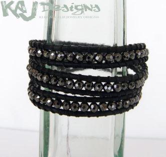 faceted-magnetite-wrap-bracelet