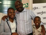 Thembekile Molaudzi has been re-united with his wife Paulina Sheshabele and their son. Thembekile was wronfully convicted and imprisoned for 11 years, The Wits Justice Project picked up his story and helped him get his freedom through the human rights work that they do for victims of the South African prison system.