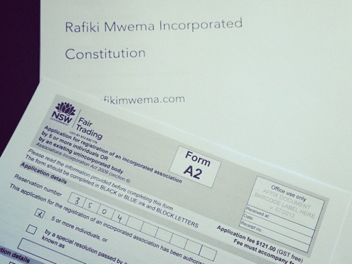 Update from the RMA (Rafiki Mwema Australia Team)