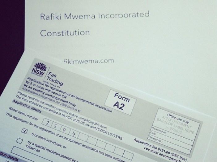 Update from the RMA (Rafiki Mwema Australia Team)