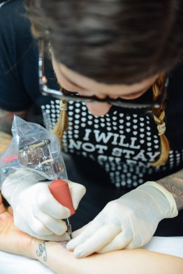 Queens Tribute Tattoos for Rafiki Mwema at Lennox Head Rock of Ages