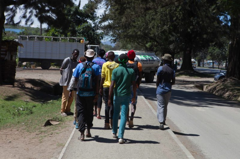 He told us that dead bodies of boys lined the roads…