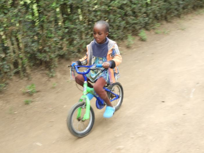 small girls bike ride