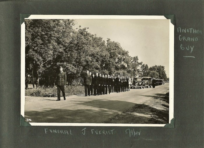funeral of mcintyre friend Everist