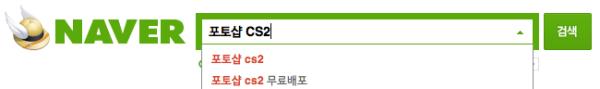 """네이버 """"포토샵 CS2"""" 검색 (2013-11-30 캡쳐)"""