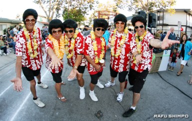 The Elvis dancers strike a pose at the final obon of the season.
