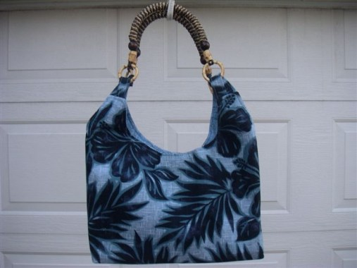 Another of Watanabe's beautiful bags, this one in brilliant shades of blue.