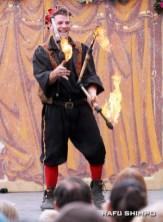 Gypsy Geoff's displays his fiery feats of skill.