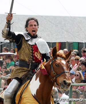 In the Queen's Joust there is only one victor, and only he can take a ride around the ring and proclaim victory.