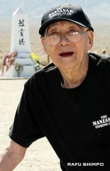 John Okamoto, 100, participated in the Manzanar Pilgrimage.
