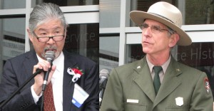 Left: NJAHS President Bryan Yagi, Right: Howard Levitt of the National Park Service's Golden Gate National Recreation Area.