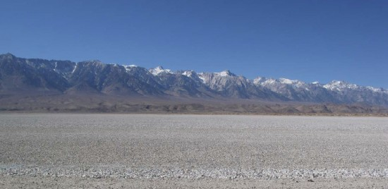Existing views of OWens Lake Solar Demonstration Project site, looking west from Corridor 1 Road. (MWH Americas Inc.)