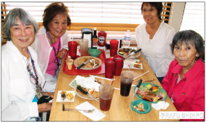 Tour participants enjoyed a leisurely lunch at the Golden Corral restaurant in El Centro.