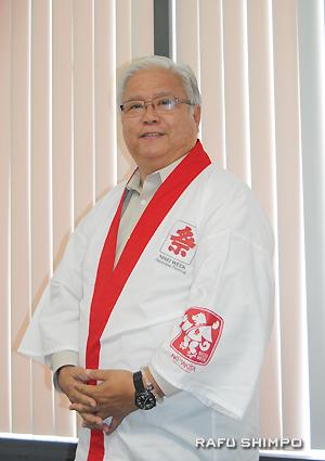 第74回「二世週祭」の実行委員長、岡本雅夫さん
