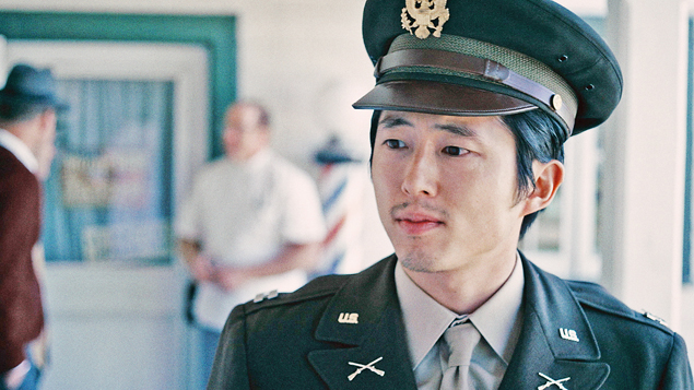 """Steven Yeun portrays a young Daniel Inouye in Tuesday's episode of Comedy Central's """"Drunk History."""" (Viacom/Comedy Central)"""