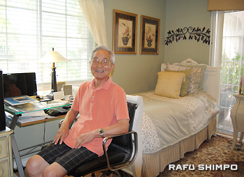Kanichiro Tsutsui is pleased with the Japanese care, Omotenashi, he receives at JP Senior Homes in Laguna Hills.
