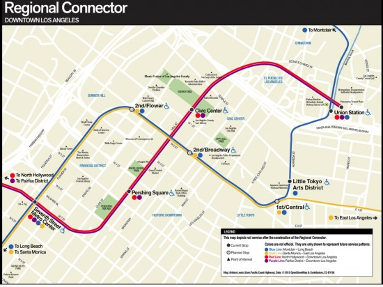 regional connector map
