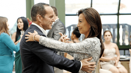 """Agent Coulson (Clark Gregg) and Melinda May (Ming-Na Wen) dance in this week's episode of """"Marvel's Agents of S.H.I.E.L.D."""""""